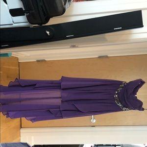 Purple High/Low Dress
